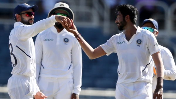 Jasprit Bumrah (left) became only the third Indian cricketer to take a Test hat-trick during 1st innings of the second Test.