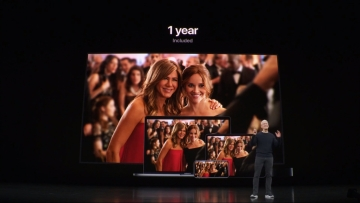Tim Cook introduces the Apple TV+ streaming platform to the world.
