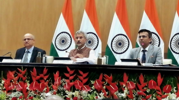 External Affairs Minister S Jaishankar at press conference, New Delhi.