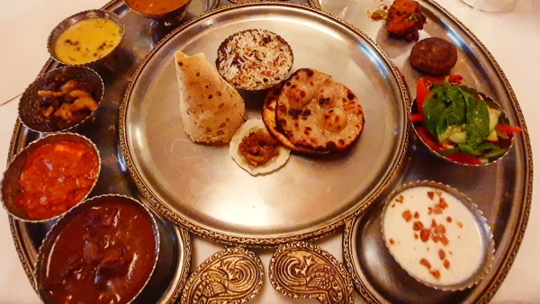 A meal fit for royals – the Crescent Meal at Narendra Bhawan.
