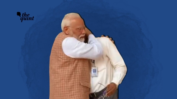 PM Narendra Modi consoles ISRO Chief K Sivan after India's Chandrayaan setback.