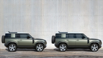 The Land Rover Defender comes in two variants - the 90 (three-door) and 100 (five-door) models.