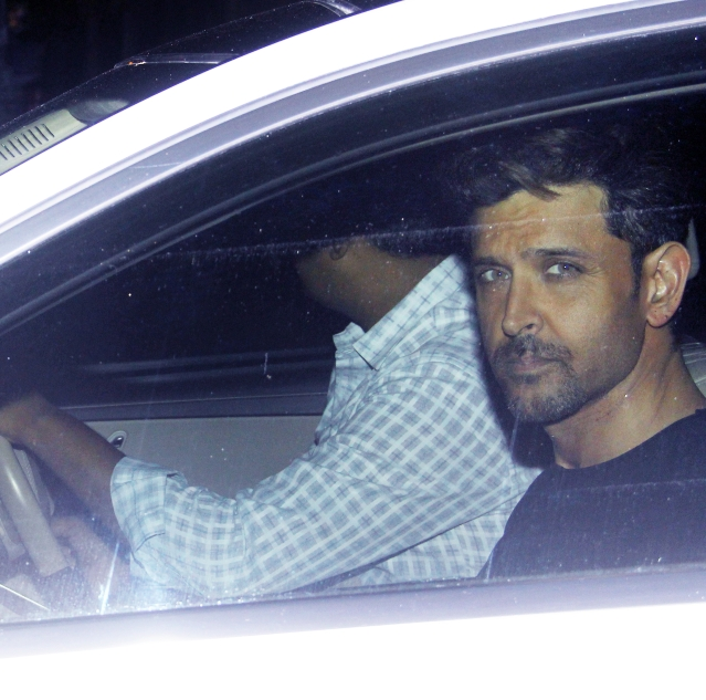 Hrithik Roshan spotted in Juhu.