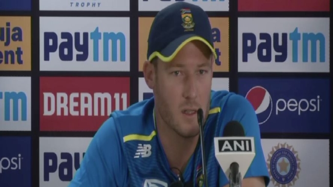 South Africa's David Miller addressing the media ahead of the first T20I between India and South Africa in Dharamshala.