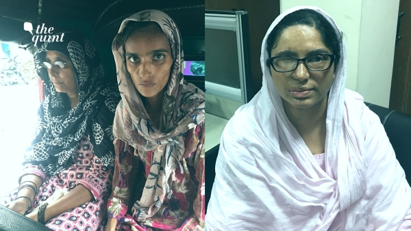 22-year-old Ruman (L) sitting with her mother. Activist Shaheen Malik (R) an acid attack survivor has raised questions on Indraprastha Apollo's conduct.