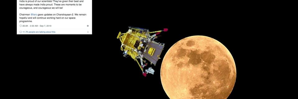 "Twitter Reactions on Chandrayaan-2 landing on Moon: ""We Are"
