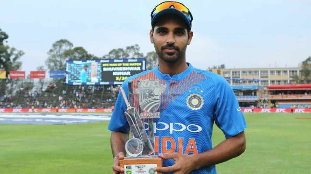 Bhuvneshwar Kumar's only five-wicket haul in his T20I career was recorded against South Africa (5/24) at Johannesburg on 18 February 2018.
