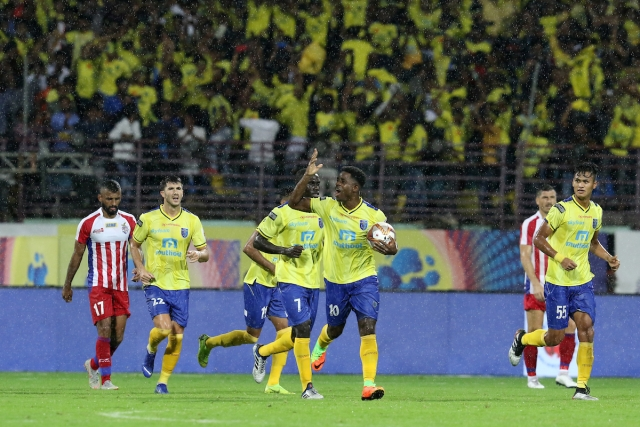 Ogbeche struck in the 30th (through a penalty) and 45th minutes in front of a packed home crowd at the Jawaharlal Nehru Stadium.
