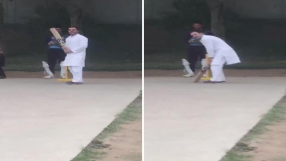 Image result for rahul gandhi cricket