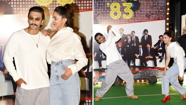 Ranveer Singh and Deepika Padukone at the <i>83 </i>wrap up party.