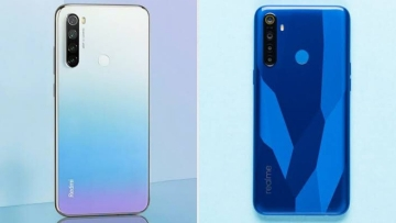 The Redmi Note 8 (left) vs Realme 5 (right).