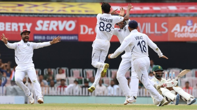 Shahbaz Nadeem took two wickets on his debut at his home ground, sending back Temba Bavuma and Anrich Nortze during South Africa's first innings