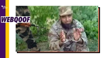 An image on social media falsely claimed that the man seen in it was captured by the Indian Army.