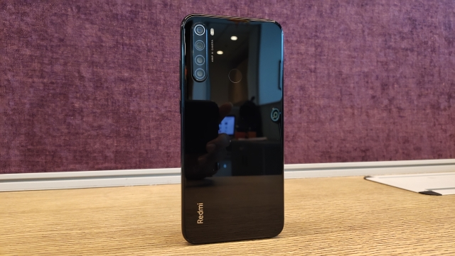 The Redmi Note 8 comes with glass both on the back and the front.