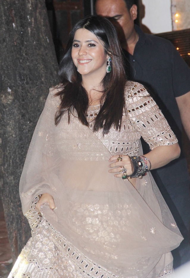 Ekta Kapoor also came for the party.