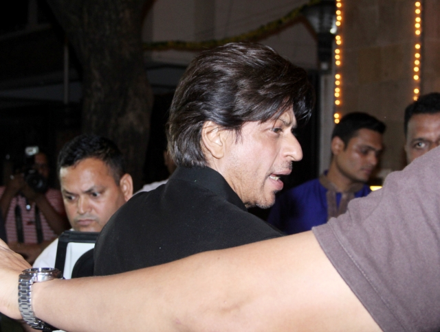 Shah Rukh Khan dropped in a for a while.