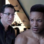 Shot of Clive Owen and younger version of Will Smith from <i>Gemini Man.</i>
