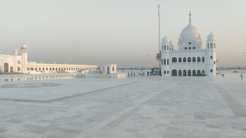 The Kartarpur Sahib gurdwara.