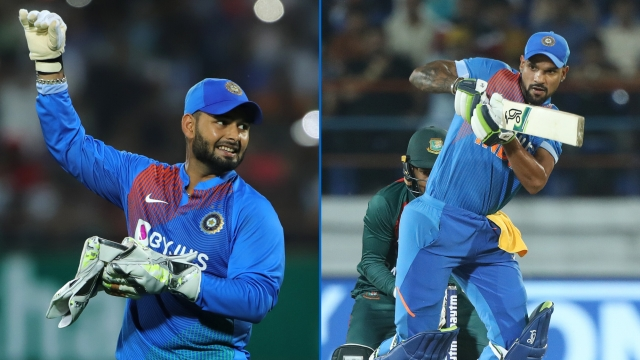 Both Rishabh Pant (left) and Shikhar Dhawan have struggled in the series in the first two T20Is.