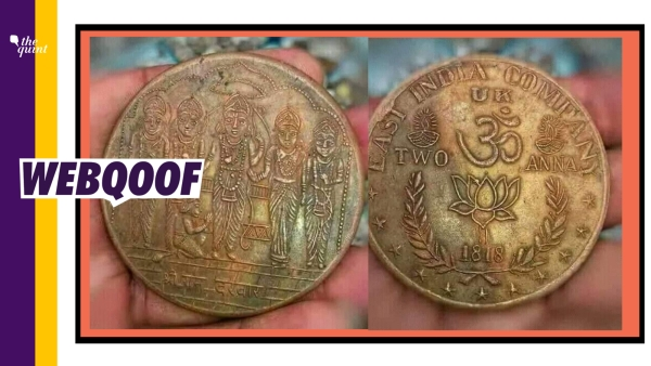 An image of an old copper coin with 'EAST INDIA COMPANY' written on it has been doing the rounds on social media.
