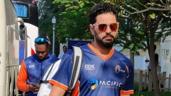 Yuvraj could only manage 6 runs as his side Maratha Arabians slumped to 8-wicket loss vs Northern Warriors.