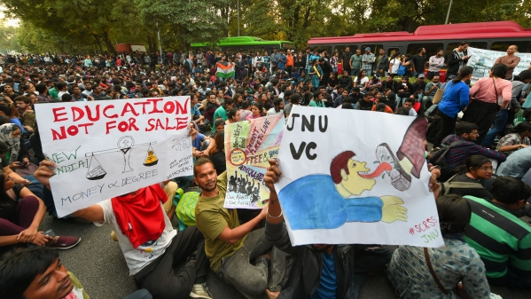 JNUSU Meets Panel Members Ahead of Their Campus Visit on Friday