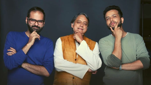 Kunal Kamra mentors Shashi Tharoor on 'One Mic Stand', a show hosted by Sapan Verma.