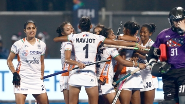India's women's hockey team beat USA in the first leg of their Olympic qualifiers.