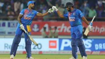 India defeated Bangladesh by eight wickets in the second T20 in Rajkot.