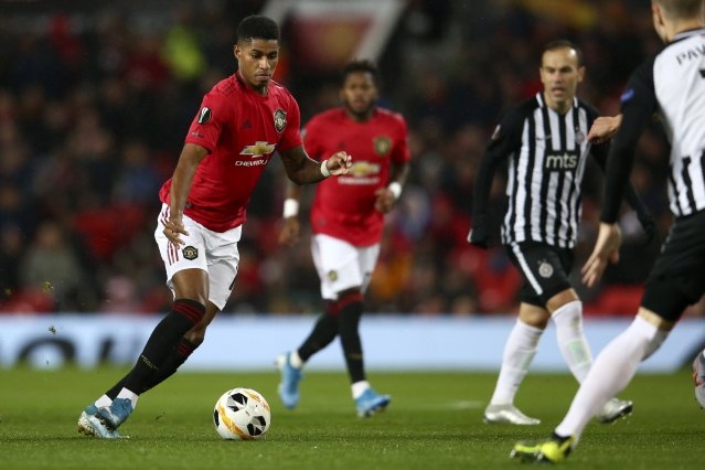 Marcus Rashford eluded five Partizan defenders to set up the 18-year-old Mason Greenwood in the 21st minute.