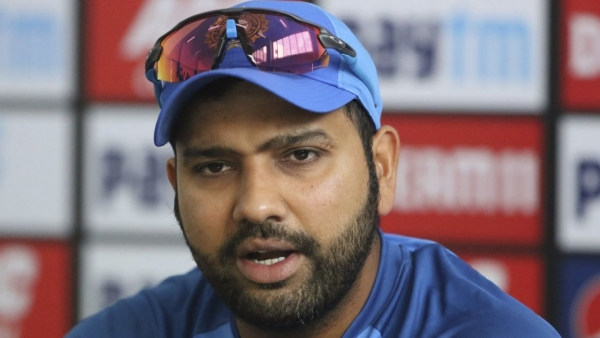 Indian captain Rohit Sharma at the press conference on the eve of the second T20I against Bangladesh in Rajkot.