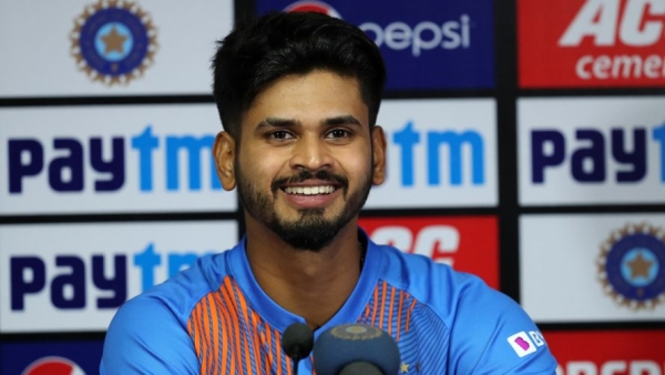 Shreyas Iyer addresses a press conference after India beat Bangladesh in the T20 series decider at Nagpur.