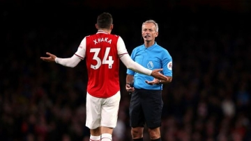Granit Xhaka threw the captains' armband and tore his jersey after being substituted in Arsenal's 2-2 draw against Crystal Palace.