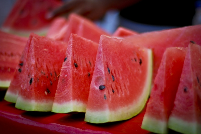 Watermelon is a rich source of vitamin A and potassium.