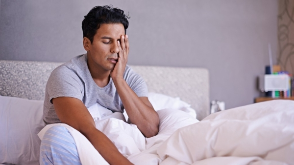 Men who slept for five or less hours had twice the risk of developing cardiovascular disease than the others.