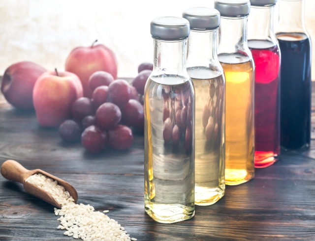 Vinegar's acetic acid slows down how quickly you digest and absorb glucose from starchy foods.