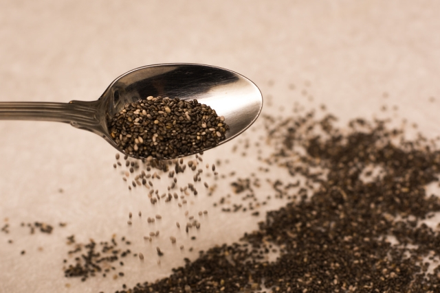 Chia seeds are rich in fiber.