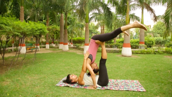 AcroYoga is a form of exercise which combines the benefits of acrobatics and Yoga.