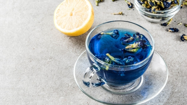 Blue tea has many vitamins and minerals which, along with anti-ageing properties, also help keep your skin and hair looking great.