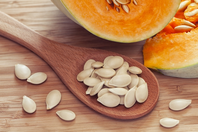 Pumpkin seeds are full of dietary fibre.