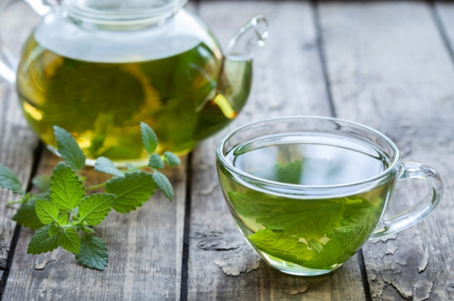 A cup of peppermint tea just before going to bed can relax you.