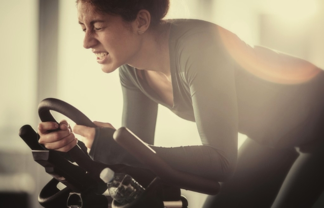 You don't need to go full throttle in that strenuous spin class for longer than you can take.