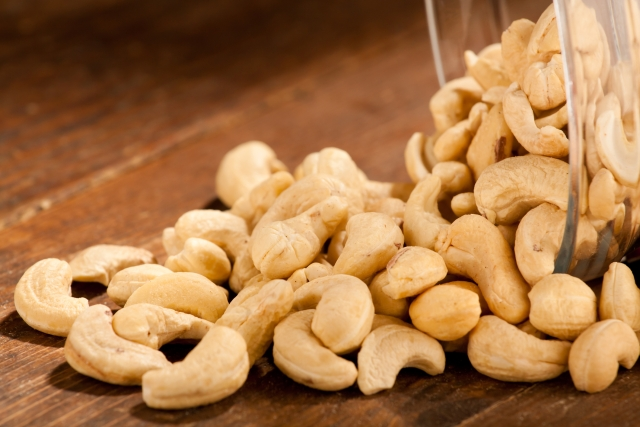 Cashews are real T-boosters.