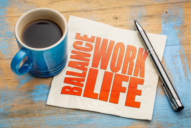 Make a list to figure out how you would want your life to look like in terms of the balance between work, family life and time for yourself.