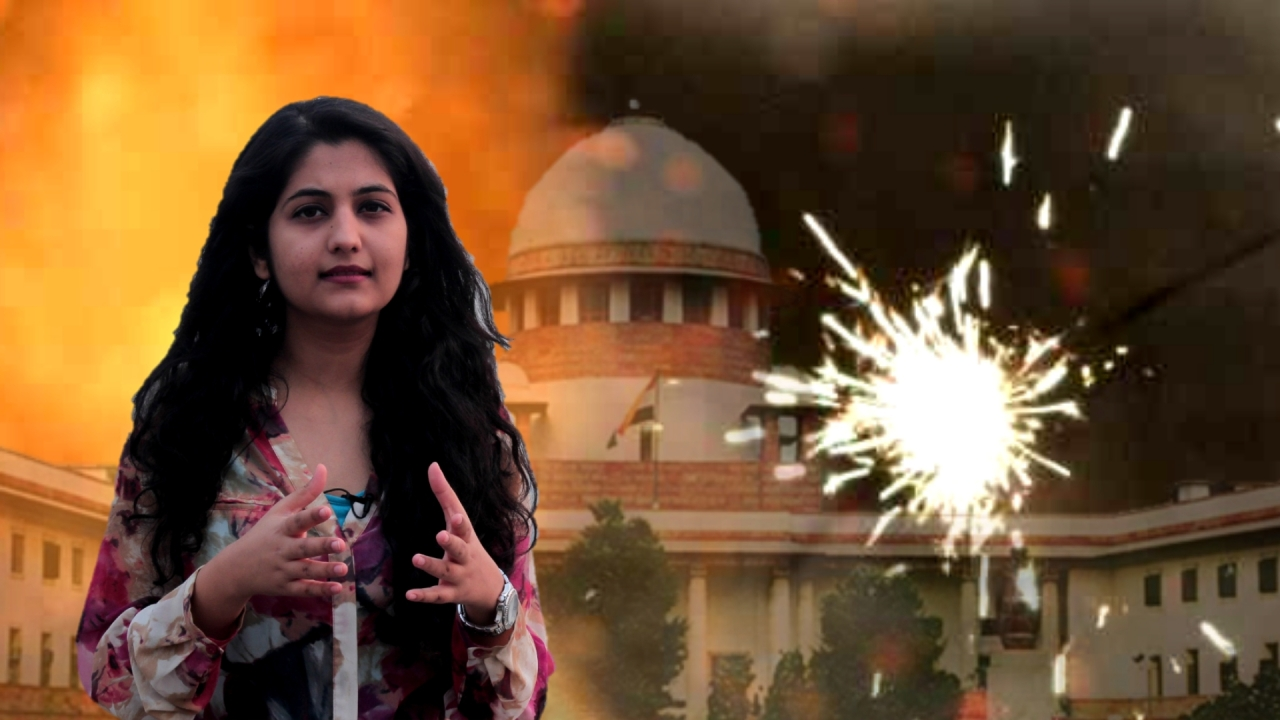 The restrictions on bursting crackers, that were put in place by the SC, were violated rampantly across India.