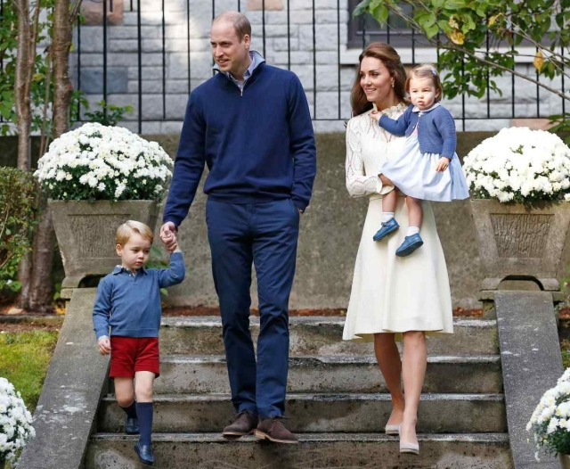 William and Kate with their kids George and Charlotte.