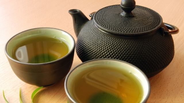 Green tea helps you lose weight because of compounds called catechins.