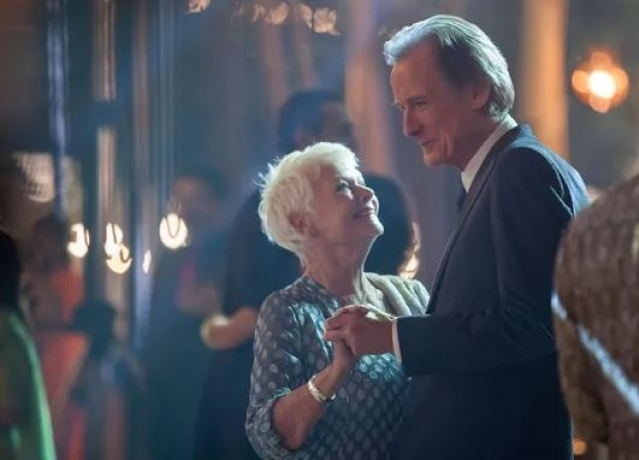 A scene from the movie 'The Second Best Exotic Marigold Hotel', which involves story lines of older couples.