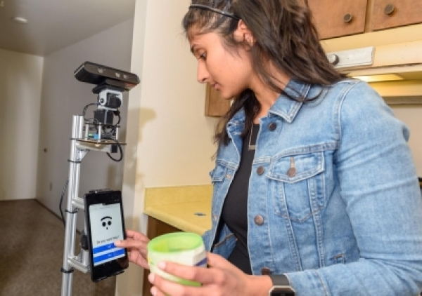 The Robot Activity Support System, or RAS uses sensors embedded in a smart home to determine where its residents are, what they are doing and when they need assistance with daily activities. (Photo Credit:Washington State University)