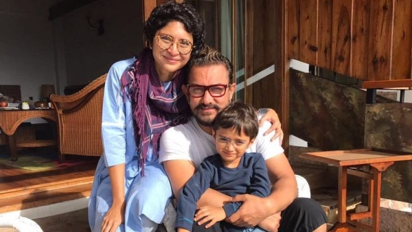 Aamir Khan with his wife Kiran Rao and kid.